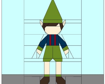 Gnome Doll Boy #5 with Overalls PDF Paper Piecing Pattern