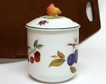 Royal Worcester Evesham Vale COFFEE Canister