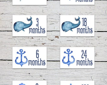 Printable Nursery Drawer Labels | Nautical Theme Drawer Labels | Nautical Nursery Decor | Nursery Organizer | Baby Clothes Labels