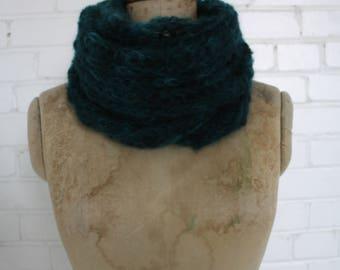 Long green mohair scarf