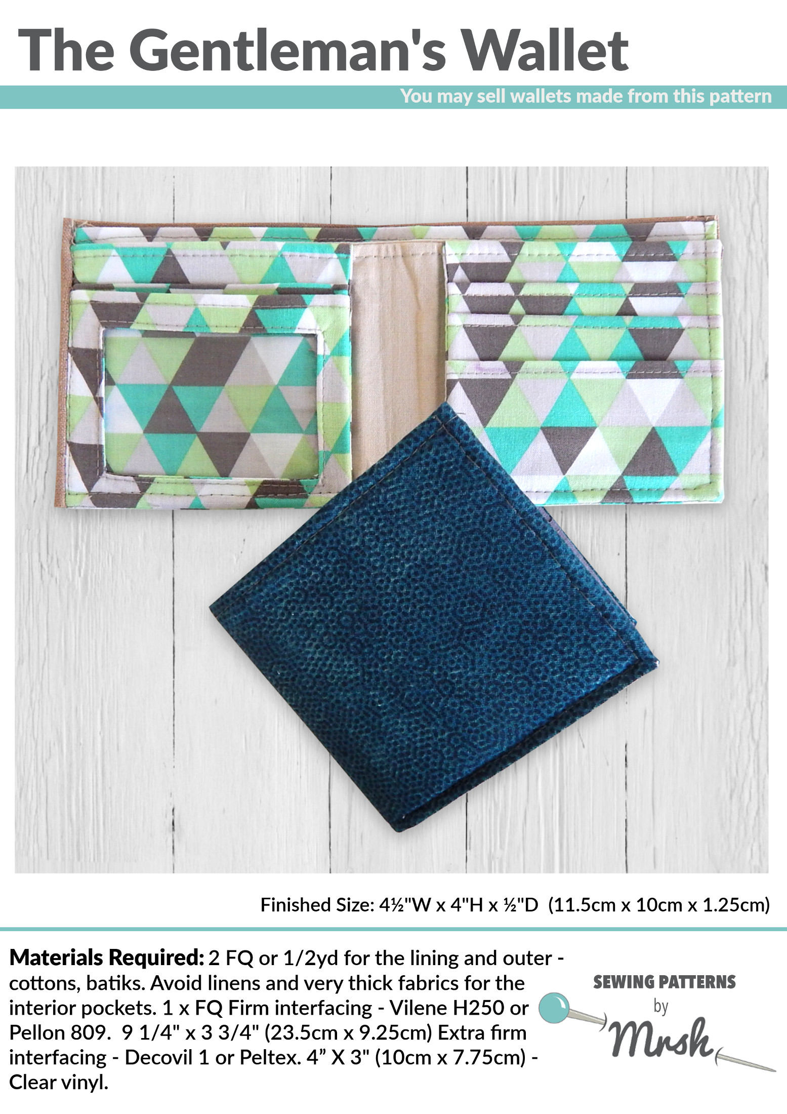 The gentlemans wallet pdf sewing pattern by mrs h zoom jeuxipadfo Choice Image