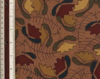 "MEDIUM WEIGHT COTTON - Autumnal Flowers - 43-1/2"" L X 52"" W"