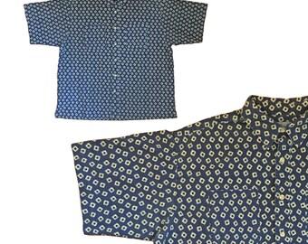 Vintage Confetti Print Cotten Shirt — XL