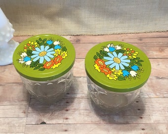 Ball Quilted Crystal Jars Flower Tops