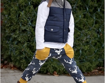 Junior Joggers: Joggers Sewing Pattern, Harem Pants Sewing Pattern