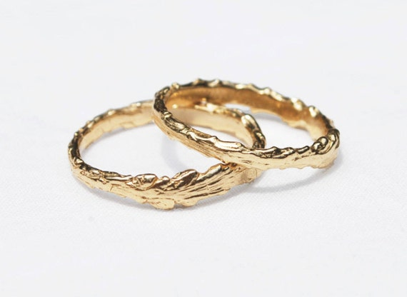 Long Island Solid Gold Twig Ring 10k yellow gold, US sizes 4.75 and 8.25-Ready to ship.