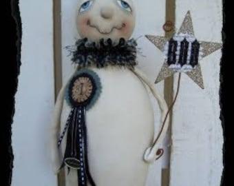 BEAU, GHOST, A Primitive, Folk Art, Halloween, Doll, Pattern