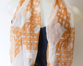 Glently Geometrical Patterned Scarf