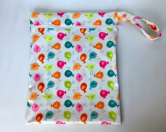 Printed Zippered Hanging Wet Bags