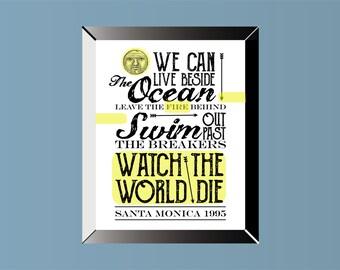 EVERCLEAR Inspired   Lyric Art   Poster   Print   11 x 14