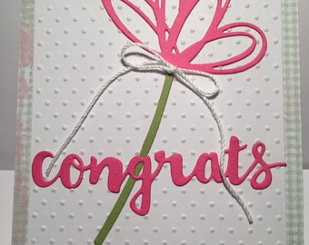 Congrats Card//Handmade Card