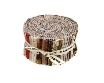 """Coats - Tim Holtz - Eclectic Elements - 40 Piece 2-1/2"""" Strip Roll - By the Roll"""