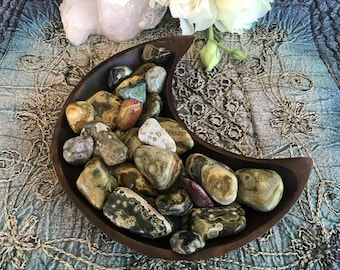 Tumbled Ocean Jasper - The Stone for Joy and Happiness