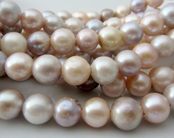 Large Hole Pearls, Cord Pearls, Peach Pearls, Freshwater Pearls, Extra Large Pearls, Potato Pearl, Blush Pearls 10mm-11mm Pearl, 10 Pieces