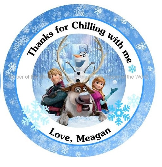12 personalized disney frozen birthday party favor thank you