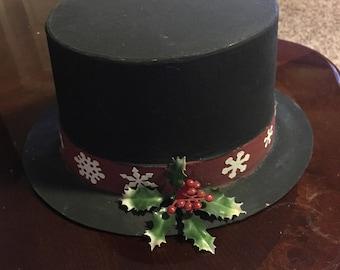Ebenezer Scrooge Hat Christmas  decoration. Fairygardensbycharlotte