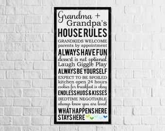 Grandma & Grandpa's House Rules svg | Grandparents svg | House Rules svg | Grandchildren svg | Grandkids svg | SVG | DXF | JPG | cut file