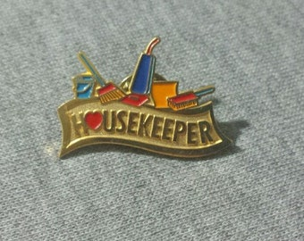 Retro Housekeeper Lapel Pin