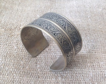 Vintage TibetanSilver Cuff Bracelet