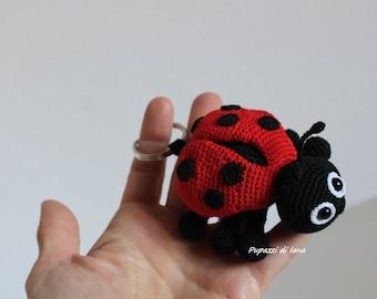 Ladybug Amigurumi Keychain