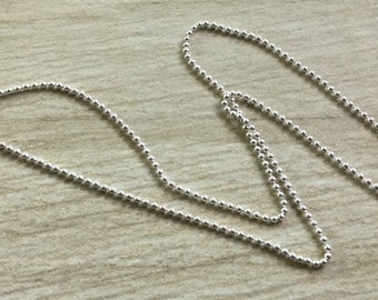 Choice- Sterling Silver 1.5mm Ball Chain