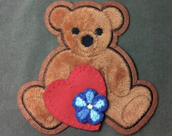 Kaylee Patch SET - Bear, Heart & Flower PRE-DYED and distressed! Perfect for Cosplay!