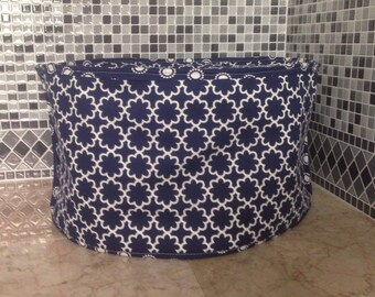 Navy Blue and White Home Decor 2 in 1 Oval Crock Pot Cover Slow Cooker Covers Small Appliance Cover Ready to Ship Free Shiping