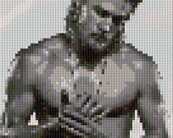 Charlie Hunnam shirtless counted Cross Stitch Pattern
