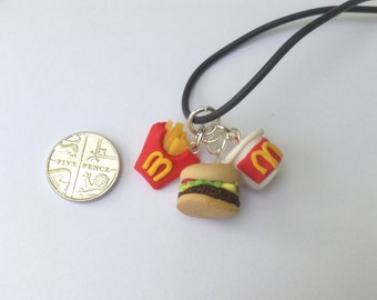 burger necklace hamburger necklace cheeseburger charm novelty food necklace burger charm junk food necklace fast food mini food jewellery