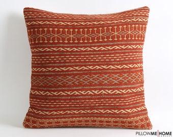 Striped kilim pillow cover // 20x20 bohemian pillows vintage home decor