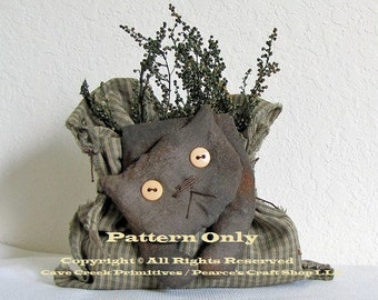 Primitive Cat Pattern, Bagged Flop Cat Pattern, Cat Patterns, Primitive Animals, Sewing Patterns, Primitive Cats, Craft Patterns, ePatterns