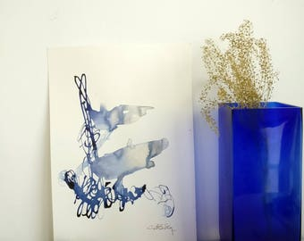 Klein blue and silver.