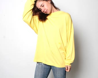 vintage VERSACE V2 long sleeve slouchy women's shirt top blouse