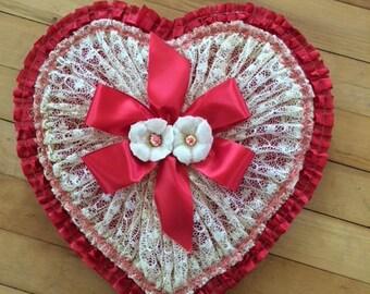 Vintage Red & White Valentine Candy Box