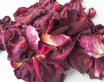 Dried rose petals for wedding confetti or paper production, dried flower petals, dried flowers, rose petals