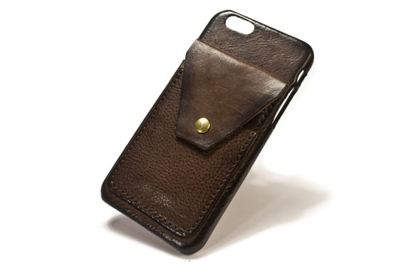 "iPhone 6 4.7"" leather credit card case 2 slots vertical plus a FLAP choose colour of BODY and ACCENT"