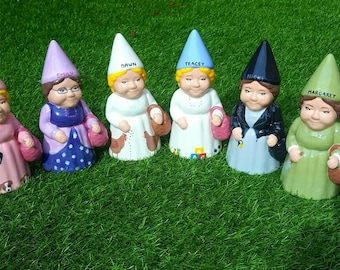 Personalised Ceramic Garden or Indoor Gnome Leaving Present Work Gift Funny Gnome Unique Gift Quirky Gift Personalized Gnome One Gnome
