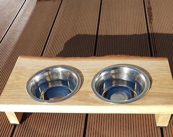 Oak feeder, cat feeder, dog feeder