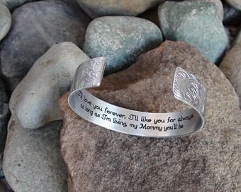 I'll love you forever, I'll Like you for always  as long as I'm living my mommy you'll be Bracelet Mom Gift Wedding Birthday Personalize Me