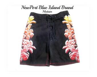 Swim trunks, swim shorts, men's swim trunks, surf shorts, black swim trunks - swim shorts -  Medium -     # 44