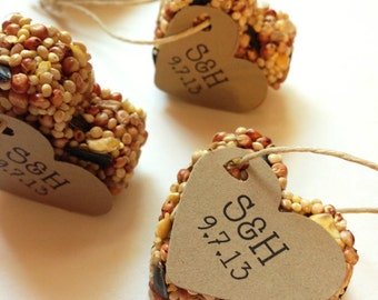 150 Bird Seed Favors MINI- Wedding and Events - Personalized bird seed favors - weddings - parties