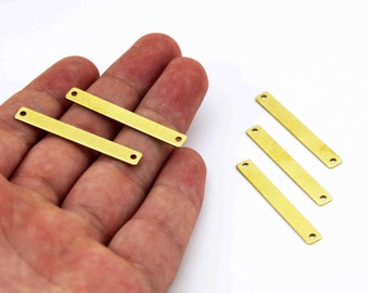 30 pcs 0.80x5x40 mm Raw Brass Rectangle Stamping Blank, Pendant, Rectangle Bar, Necklace Finding, Earring Findings ( 20 Gauge )
