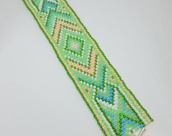 Native American Bracelet, Seed Bead Bracelet, Native American Bead Bracelet, Beaded Bracelet, Loom Bracelet, Tribal Bracelet,Peyote Bracelet