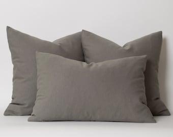 Gray Pillows Decorative Throw Pillow Dark Gray Pillow Cover Decorative Gray Pillows Solid Grey Pillow Cover Modern Pillows