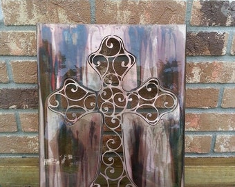 Steel Cross Wall Art, Spiritual, Faith, Religion, Church, Made in USA, Christmas Gift, Birthday Gift, Family