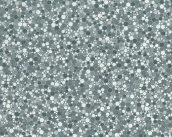 RJR Patrick Lose Basically Patrick Grey Gray White mottled hexagon fabric 2034-014 BTY