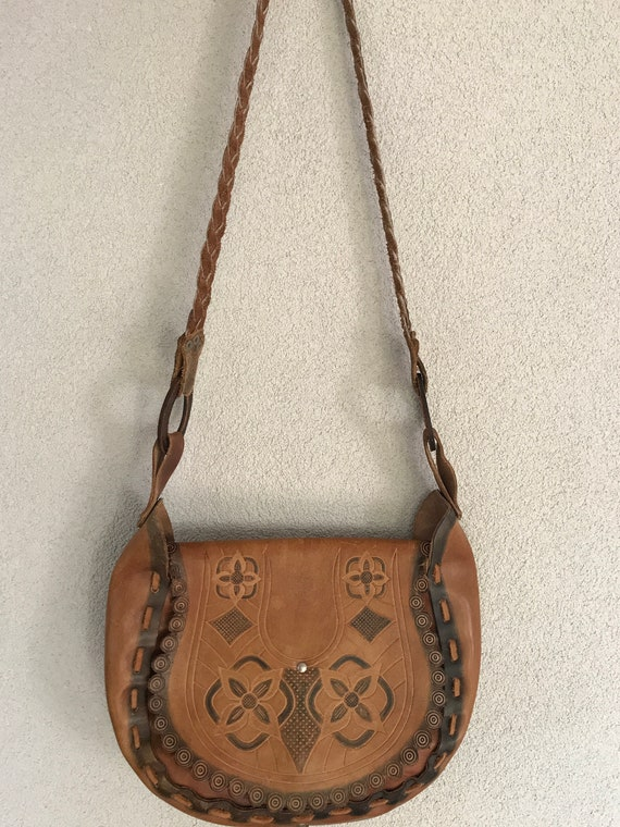 Vintage saddle bag | Festival bag | Hippie bag | Boho shoulder bag | leather shoulder bag | Vintage leather bag | crossover bag