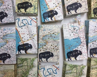 5 Pack, Buffalo New York Luminaries, Buffalo NY Map, Buffalo Wedding, local pride, Buffalo Gift, Buffalo Map, Buffalo Decor, Buffalo NY Art