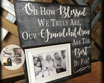 Grandparents Mother's Day | Mother's Day Frame | Personalized Picture Frame for Grandparents | Best Gifts for Grandparents