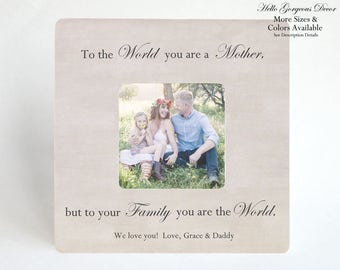 Mother's Day Gift to Mom Picture Frame Personalized Gift Mother from Daughter Son Mother's Day Gift from Husband Family Mother's Day Frame